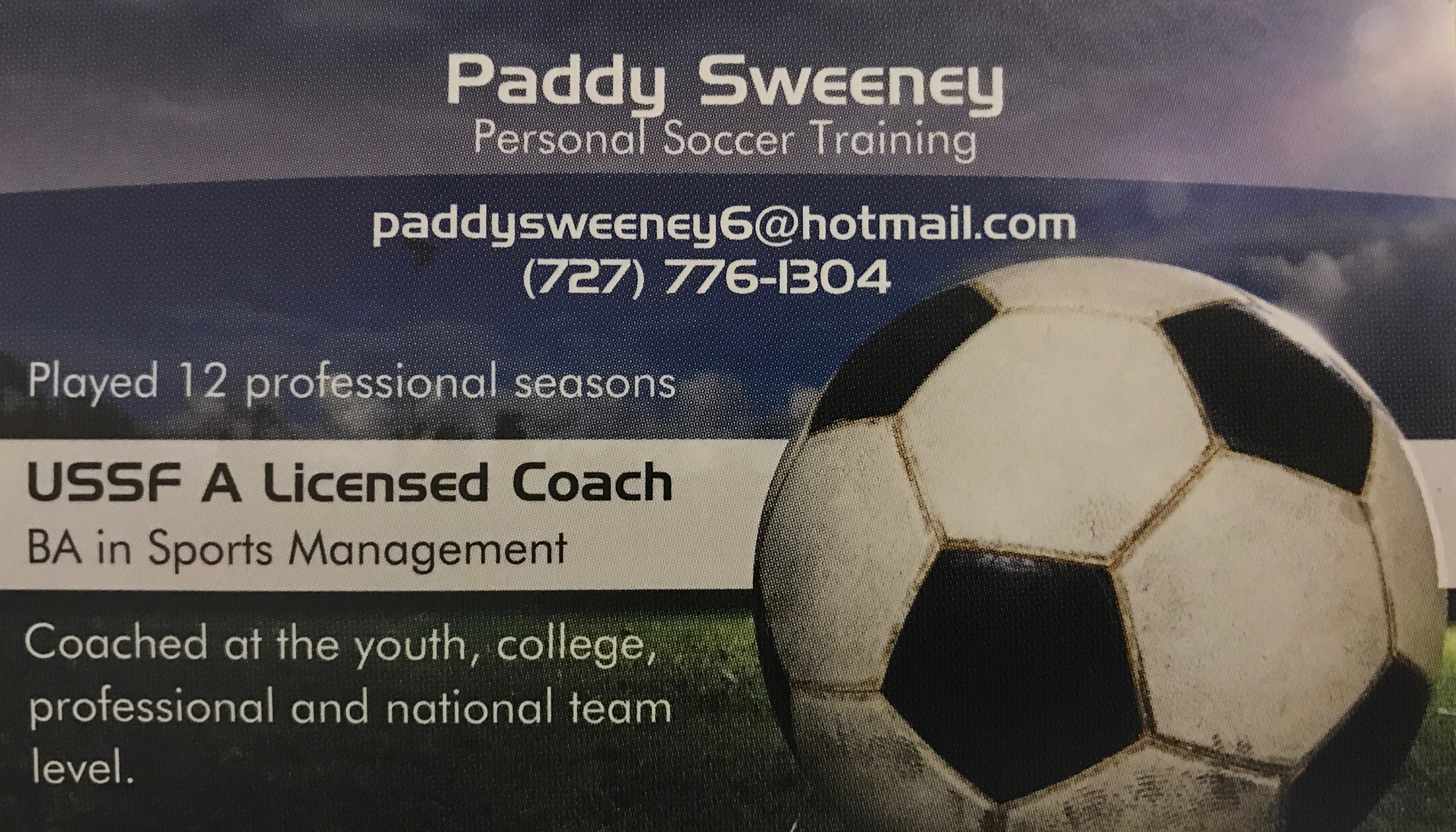 ⚽️Training with COACH PADDY⚽️